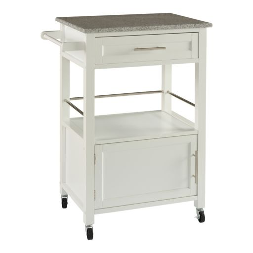 Linon Mitchel Granite Top Kitchen Cart