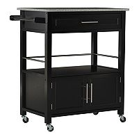 Linon Cameron Granite Top Kitchen Cart