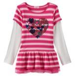 Design 365 Stripe Mock-Layer Tunic - Girls 4-6x