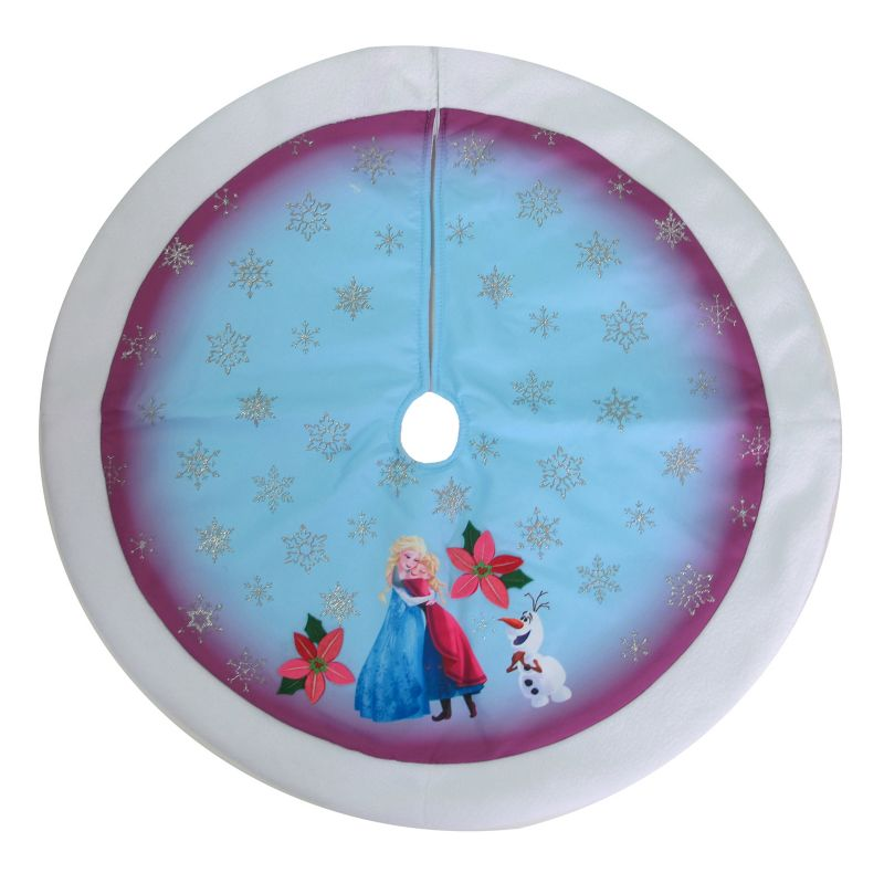 Disney's Frozen Anna, Elsa & Olaf Christmas Tree Skirt, Multicolor, One Size