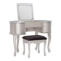 Linon Paloma 2 pc Vanity and Bench Set