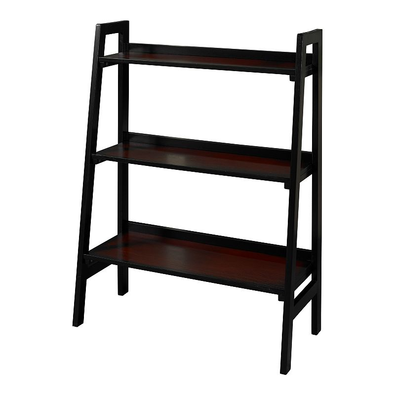 Linon Camden 3-Shelf Bookcase, Black This Linon bookcase proves that great design doesn't have to sacrifice smart storage. Three fixed shelves 40''H x 30''W x 13.5''D Top shelf: 28.43''W x 7.48''D x 0.59''H Middle shelf: 28.43''W x 9.25''D x 0.59''H Bottom shelf: 28.43''W x 11.22''D x 0.59''H Weight capacity: 90 lbs. (overall) Wood/MDF Assembly required Manufacturer's 6-month limited warrantyFor warranty information please click here Imported MODEL NUMBERS 64021BLKCHY-01-KD-U  Size: One Size. Color: Black. Gender: unisex. Age Group: adult.