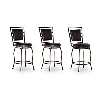 Linon Townsend 3-Piece Adjustable Stool Set
