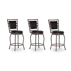 Linon Townsend 3 pc Adjustable Stool Set