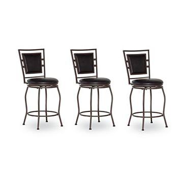 Linon Townsend 3-Piece Adjustable Stool Set