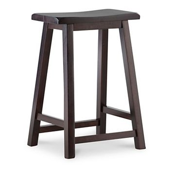 Linon Saddle Stool