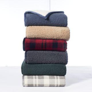 Cuddl Duds Premium Sherpa Fleece Throw