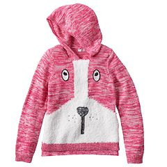 Design 365 Puppy Marled Sweater Hoodie - Girls 4-6x