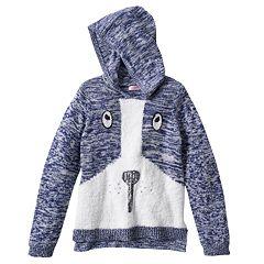 Design 365 Puppy Marled Sweater Hoodie - Girls 4-6x