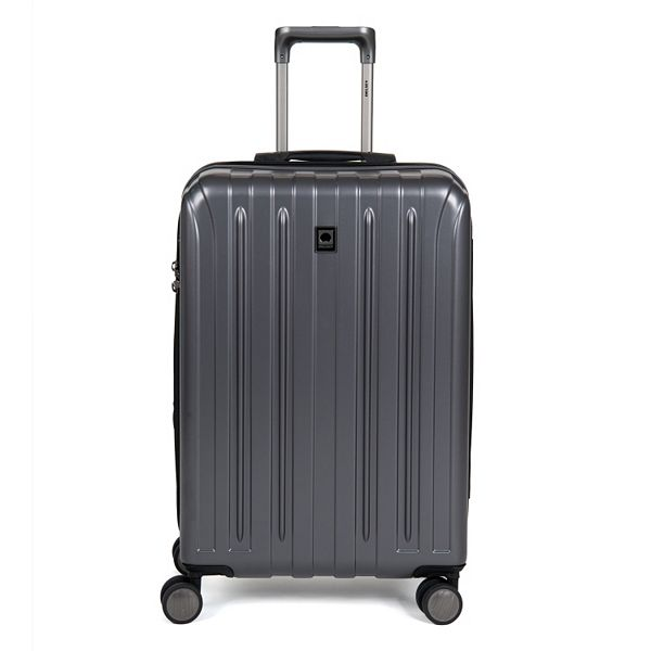 DELSEY Paris Titanium 25u0022 Expandable Checked Spinner Rolling Luggage Suitcase