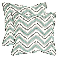 Safavieh 2-piece Elli Chevron Throw Pillow Set