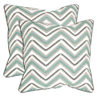 Safavieh 2-piece Elli Chevron Throw Pillow Set