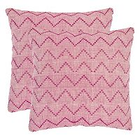 Safavieh 2-piece Zig Zag Throw Pillow Set
