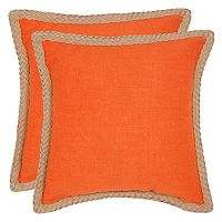 Safavieh 2 pc Sweet Sorona Throw Pillow Set