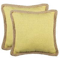 Safavieh 2-piece Sweet Sorona Throw Pillow Set