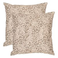 Safavieh 2-piece Satin Leopard Throw Pillow Set