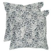Safavieh 2-piece Satin Leopard Throw Pillow Set