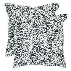Safavieh 2 pc Satin Leopard Throw Pillow Set