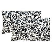 Safavieh 2-piece Satin Leopard Oblong Throw Pillow Set