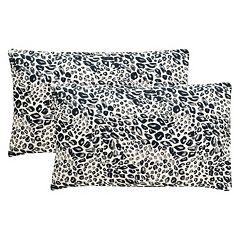 Safavieh 2 pc Satin Leopard Oblong Throw Pillow Set