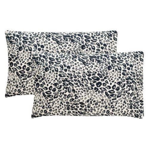 Safavieh 2-piece Satin Leopard Oblong Throw Pillow Set
