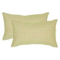 Safavieh 2 pc Box Stitch Oblong Throw Pillow Set