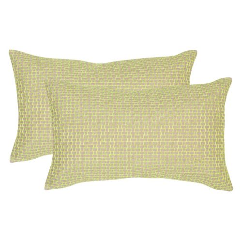 Safavieh 2-piece Box Stitch Oblong Throw Pillow Set