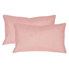 Safavieh 2-piece Box Stitch Oblong Throw Pillow Set
