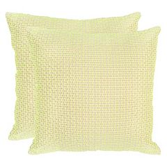 Safavieh 2 pc Box Stitch Throw Pillow Set