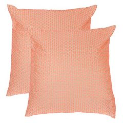 Safavieh 2-piece Box Stitch Throw Pillow Set