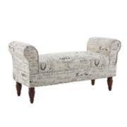 Linon Lillian Script Bench