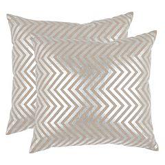 Safavieh Chevron 2 pc Linen Throw Pillow Set