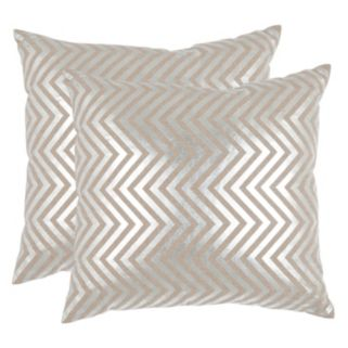 Safavieh Chevron 2-piece Linen Throw Pillow Set