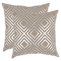 Safavieh Square Metallic 2 pc Throw Pillow Set