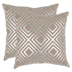 Safavieh Square Metallic 2-piece Throw Pillow Set