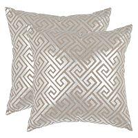 Safavieh Metallic Geometric 2-piece Throw Pillow Set