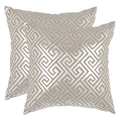 Safavieh Metallic Geometric 2-piece Throw Pillow Set
