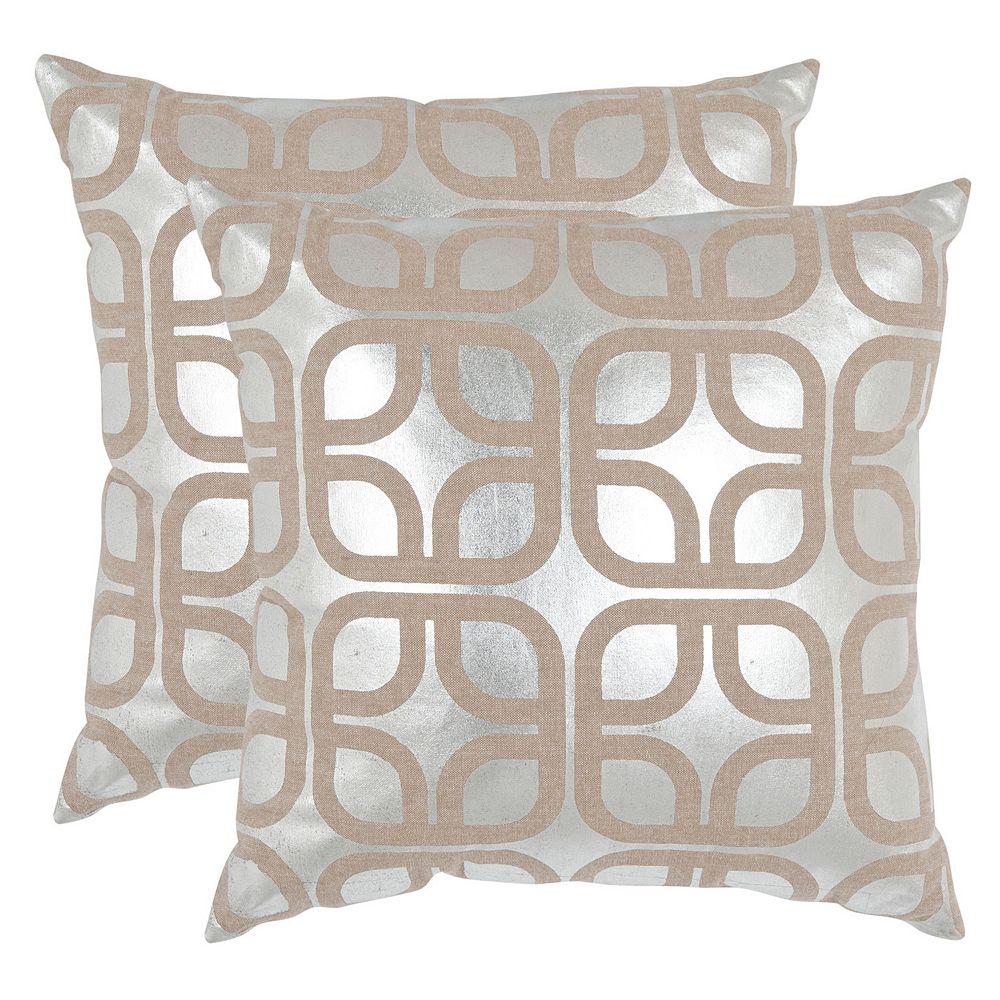 Safavieh Geometric 2-piece Linen Throw Pillow Set