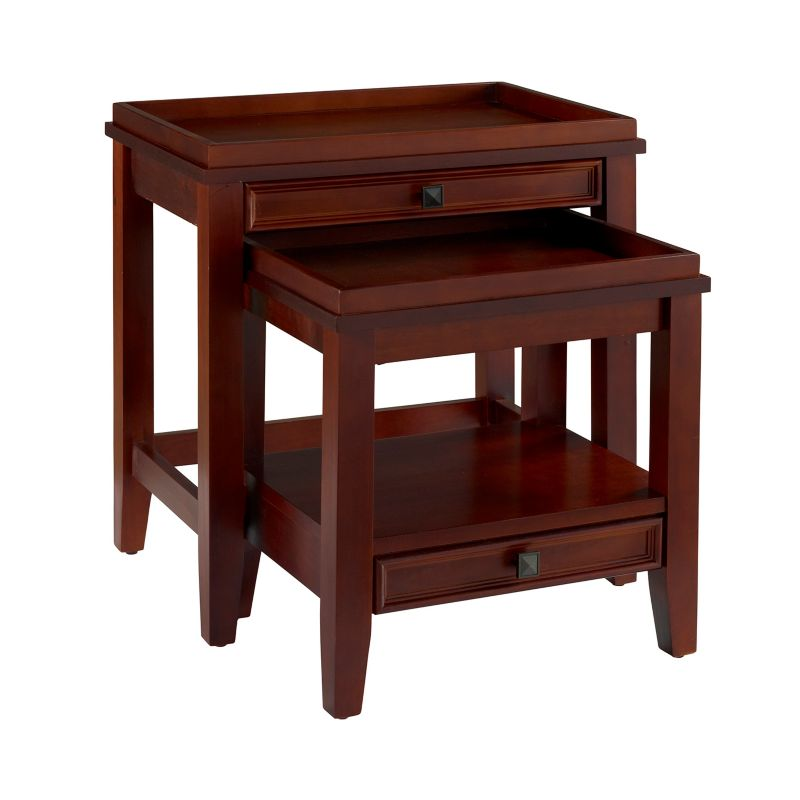 Linon Wander 2-pc. Nesting End Table Set, Brown