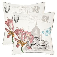 Safavieh 2 pc Gloria Throw Pillow Set