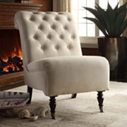 Linon Rolled Back Accent Chair