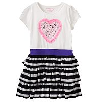 Toddler Girl Design 365 Rhinestone Heart Dress