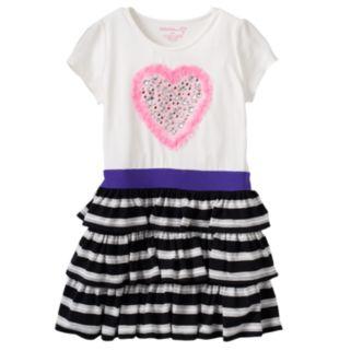 Toddler Girl Design 365 Rhinestone Heart Dress
