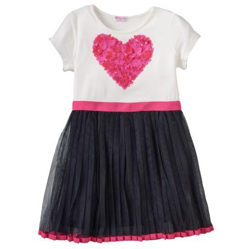 Design 365 Pleated Tulle Dress - Toddler Girl