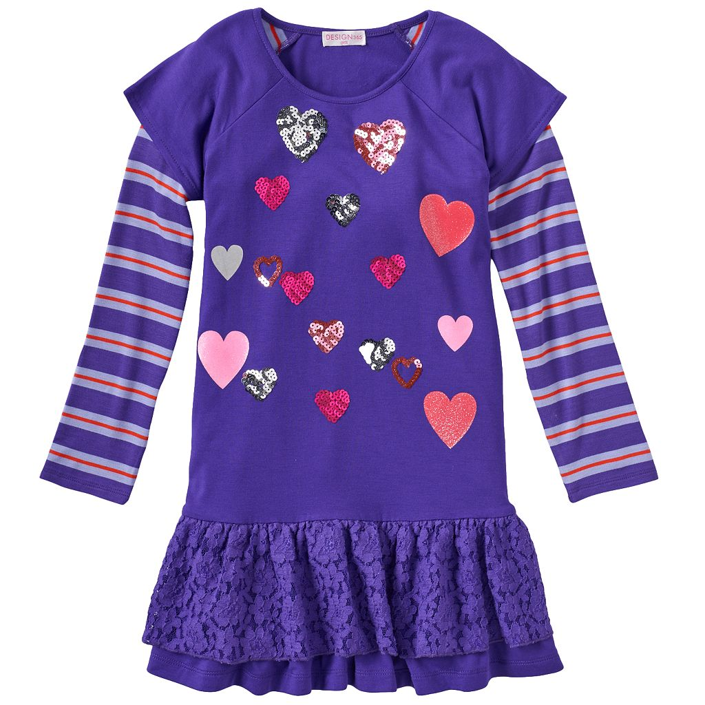 Design 365 Mock-Layer Drop-Waist Dress - Toddler Girl