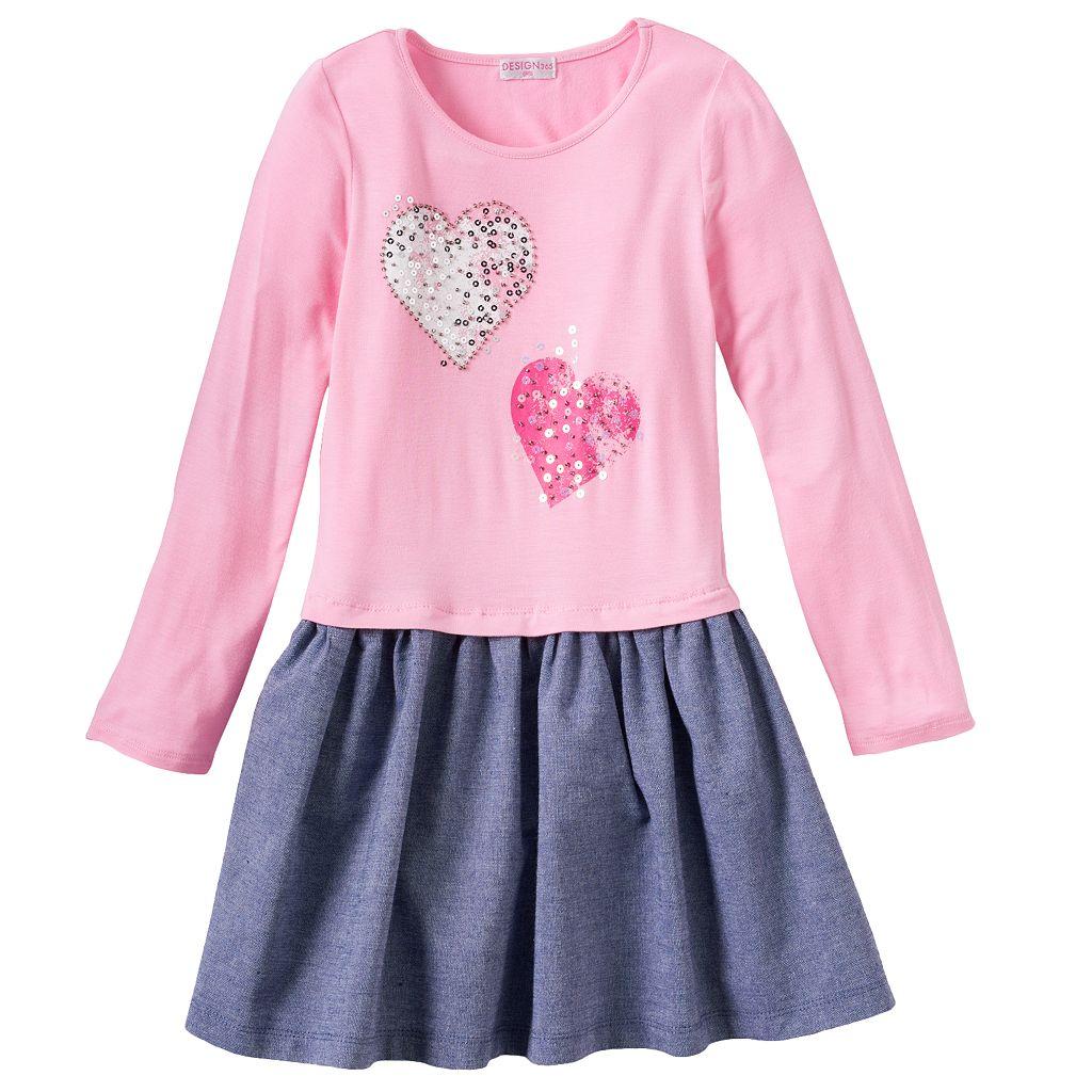 Design 365 Pleated Denim Dress - Toddler Girl