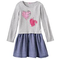 Design 365 Pleated Denim Dress - Toddler Girl