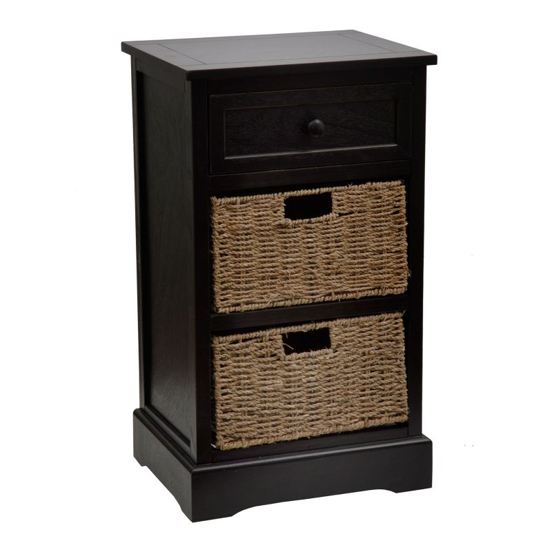 Decor Therapy Storage End Table, Black