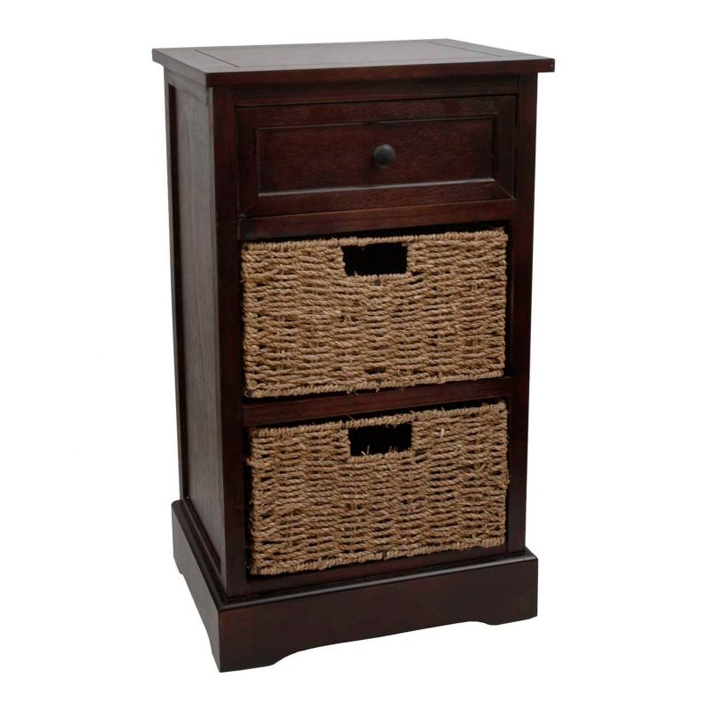 Decor Therapy Storage End Table, Brown