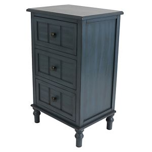 Decor Therapy 3-Drawer Nighstand